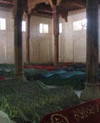 Graves at Uch Sharif, Photo by Carla Bellamy